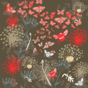 botanical, flowers, pattern, nature, greetings card, surface pattern design