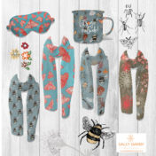 pattern collection, accessories, products, cushions, mugs, scarfs, bee, nature, pattern