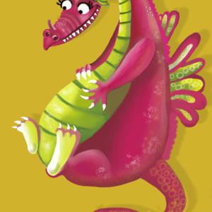 dragon, sally darby illustration, licensing, kids character