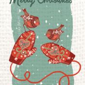 robin, hygge, christmas, mittens