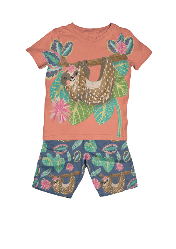 sloth, sloth character, licensing, kids clothing