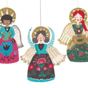 angels, christmas, pattern, cards