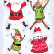 christmas, santa, elf, polar bear, rudolf