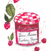 Bonne maman, raspberry jam, illustration, they draw and cook, food illustration, editorial, food magazine, watercolour illustration
