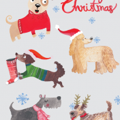 dogs, christmas, greetings cards