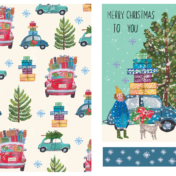 beetle car, christmas, winter, merry christmas, pattern