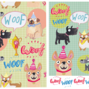 pattern, dog, woof, best in show, surface pattern design