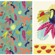 toucan, pattern, jungle pattern