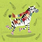 zebra, character, rollerskates, character design, kidslit, characters for kids