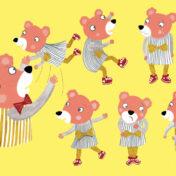 bear, character, emotions, dad, bear, kidslit, toddler book, kidslit, dancing, movement,