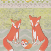 new baby, fox, gift, family, congratulations, illustration