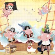 pigs, pirates, kidslit, toddler books, baby books, pre school books, adventure