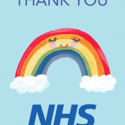 nhs, rainbow, weather, thank you card