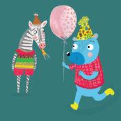 zebra, bear, character, balloon, character, kids products, kids lit, childrens book